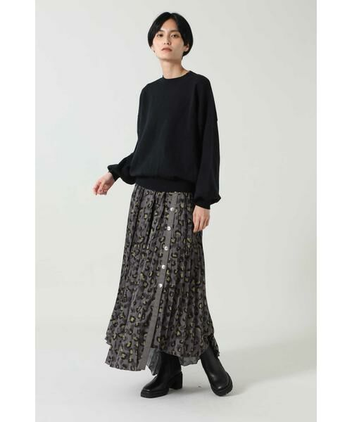 ROSE BUD / ローズ バッド スカート | アニマルプリーツスカート | 詳細3