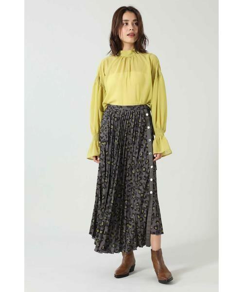 ROSE BUD / ローズ バッド スカート | アニマルプリーツスカート | 詳細4