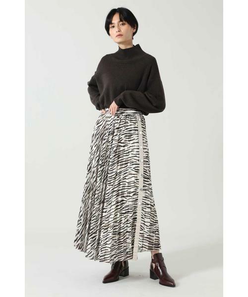 ROSE BUD / ローズ バッド スカート | アニマルプリーツスカート | 詳細7