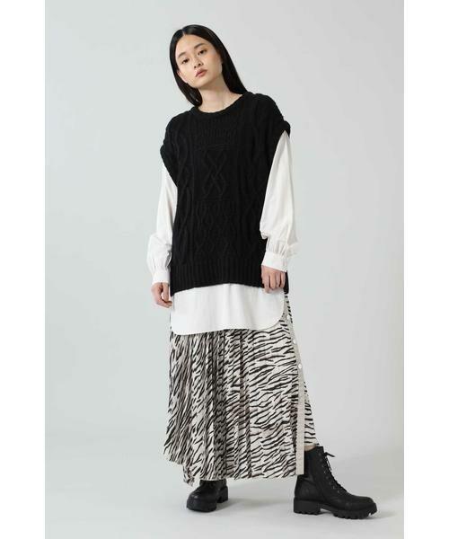 ROSE BUD / ローズ バッド スカート | アニマルプリーツスカート | 詳細9