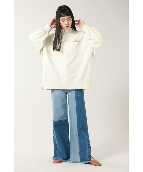 ROSE BUD / ローズ バッド パンツ   カラーブロックデニムパンツ   詳細2