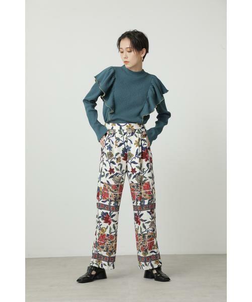 ROSE BUD / ローズ バッド パンツ | ヴィンテージプリントイージーパンツ | 詳細3