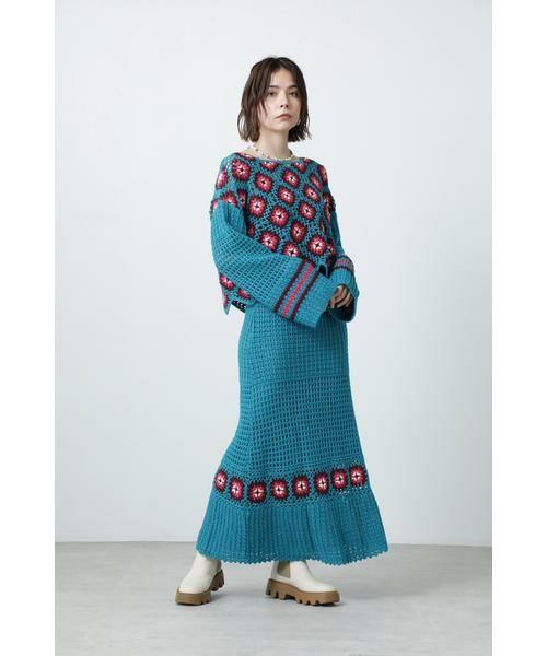ROSE BUD / ローズ バッド スカート | クロシェスカート | 詳細1
