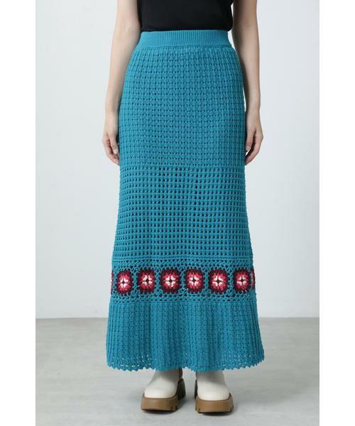 ROSE BUD / ローズ バッド スカート | クロシェスカート | 詳細4
