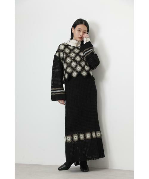ROSE BUD / ローズ バッド スカート | クロシェスカート | 詳細10