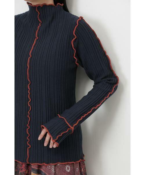 ROSE BUD / ローズ バッド ニット・セーター | メロー配色ハイネックニット | 詳細7