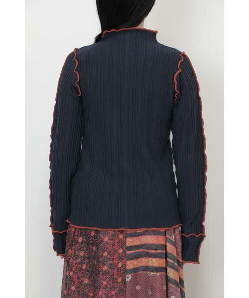ROSE BUD / ローズ バッド ニット・セーター | メロー配色ハイネックニット | 詳細5