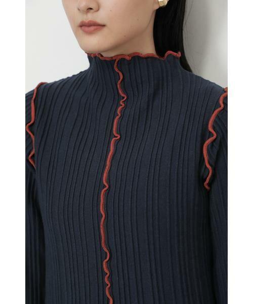 ROSE BUD / ローズ バッド ニット・セーター | メロー配色ハイネックニット | 詳細6