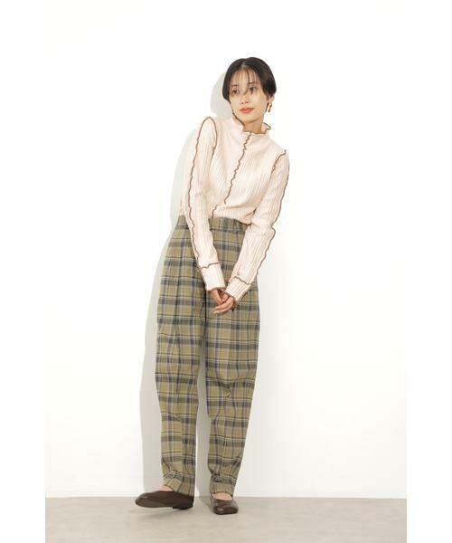 ROSE BUD / ローズ バッド ニット・セーター | メロー配色ハイネックニット | 詳細8