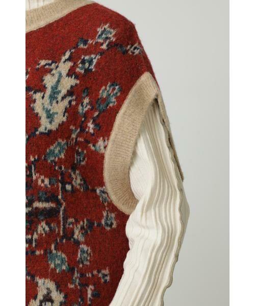 ROSE BUD / ローズ バッド ニット・セーター | 絨毯柄ニット | 詳細7