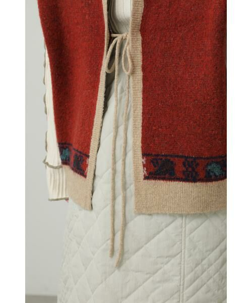 ROSE BUD / ローズ バッド ニット・セーター | 絨毯柄ニット | 詳細9