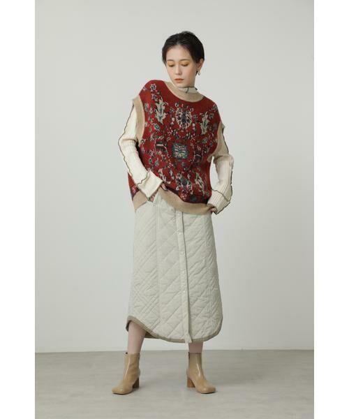 ROSE BUD / ローズ バッド ニット・セーター | 絨毯柄ニット | 詳細1