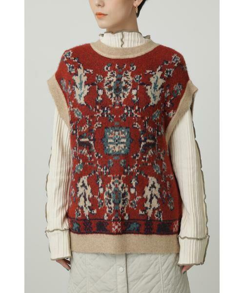 ROSE BUD / ローズ バッド ニット・セーター | 絨毯柄ニット | 詳細3