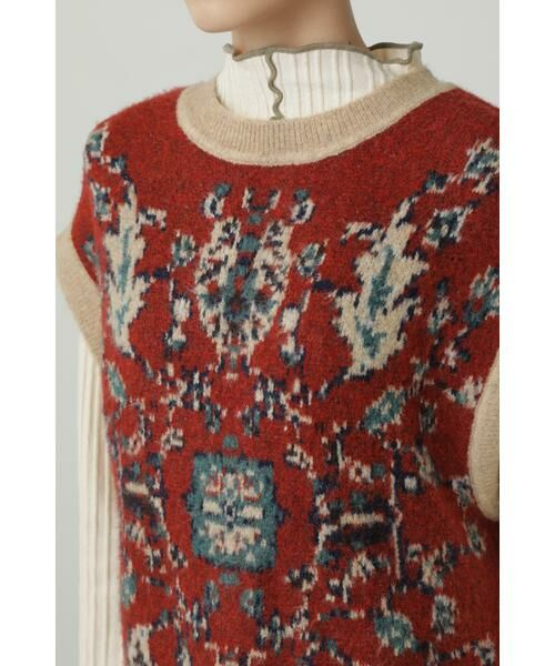 ROSE BUD / ローズ バッド ニット・セーター | 絨毯柄ニット | 詳細6