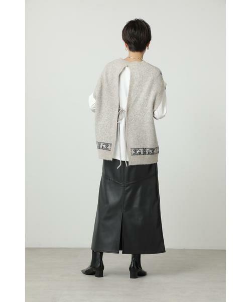 ROSE BUD / ローズ バッド ニット・セーター | 絨毯柄ニット | 詳細11