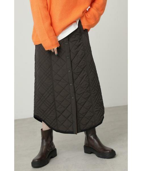ROSE BUD / ローズ バッド スカート | キルトリバーシブルスカート(グレー)