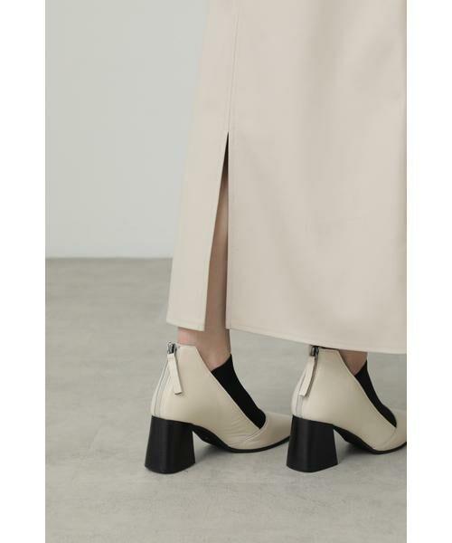 ROSE BUD / ローズ バッド スカート | フェイクレザー切り替えフレアスカート | 詳細14
