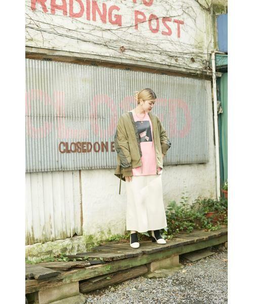 ROSE BUD / ローズ バッド スカート | フェイクレザー切り替えフレアスカート | 詳細15
