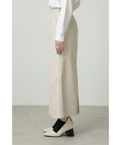ROSE BUD / ローズ バッド スカート | フェイクレザー切り替えフレアスカート | 詳細8