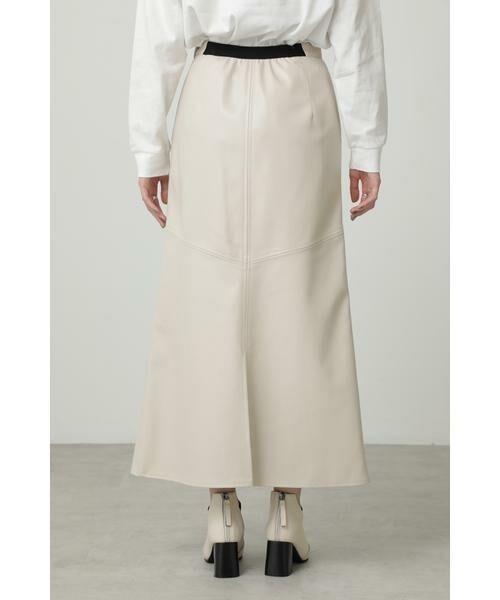 ROSE BUD / ローズ バッド スカート | フェイクレザー切り替えフレアスカート | 詳細9