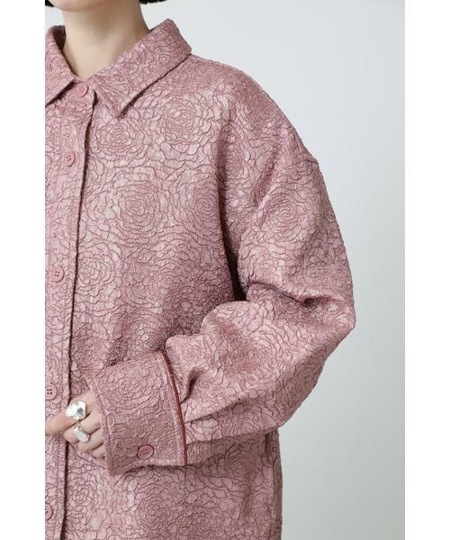 ROSE BUD / ローズ バッド シャツ・ブラウス | ジャカードビッグシャツ | 詳細8