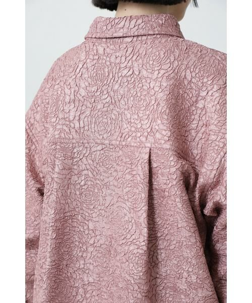 ROSE BUD / ローズ バッド シャツ・ブラウス | ジャカードビッグシャツ | 詳細11