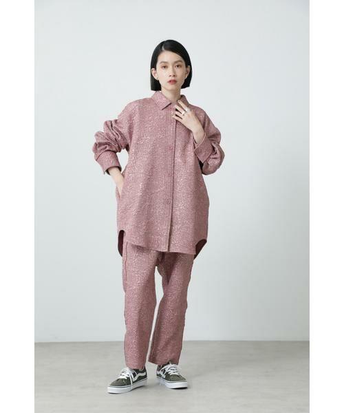 ROSE BUD / ローズ バッド シャツ・ブラウス | ジャカードビッグシャツ | 詳細1
