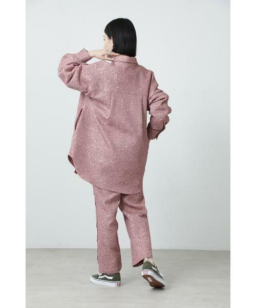 ROSE BUD / ローズ バッド シャツ・ブラウス | ジャカードビッグシャツ | 詳細2