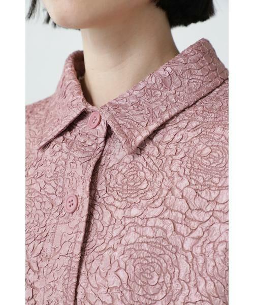 ROSE BUD / ローズ バッド シャツ・ブラウス | ジャカードビッグシャツ | 詳細7
