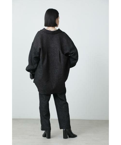 ROSE BUD / ローズ バッド シャツ・ブラウス | ジャカードビッグシャツ | 詳細13