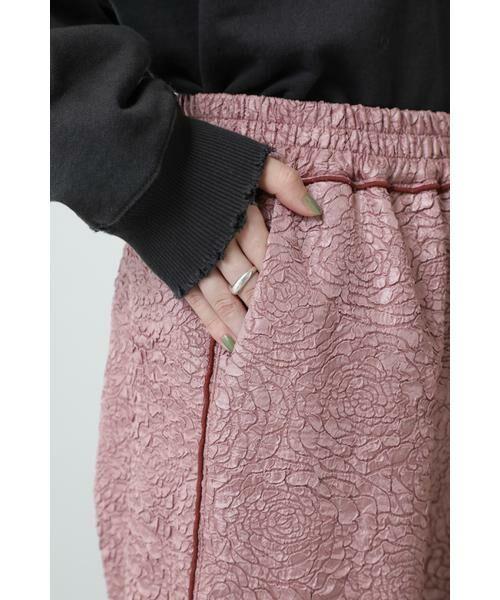 ROSE BUD / ローズ バッド パンツ   ジャカードイージーパンツ   詳細7