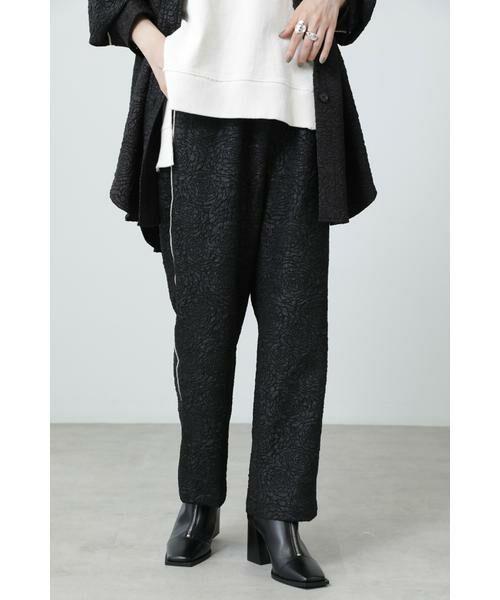 ROSE BUD / ローズ バッド パンツ   ジャカードイージーパンツ(ブラック)