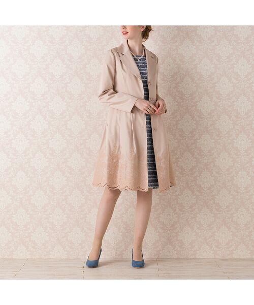 Rose Tiara / ローズティアラ トレンチコート   カットワーク刺繍トレンチコート   詳細12