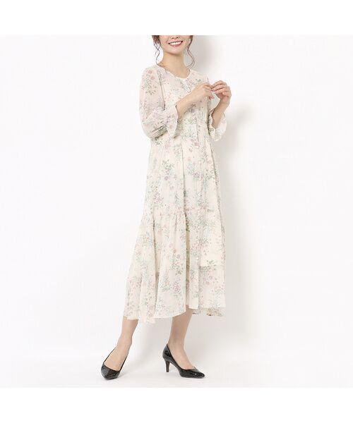 Rose Tiara / ローズティアラ ミニ丈・ひざ丈ワンピース | ボタニカルフラワーガウンワンピース | 詳細1