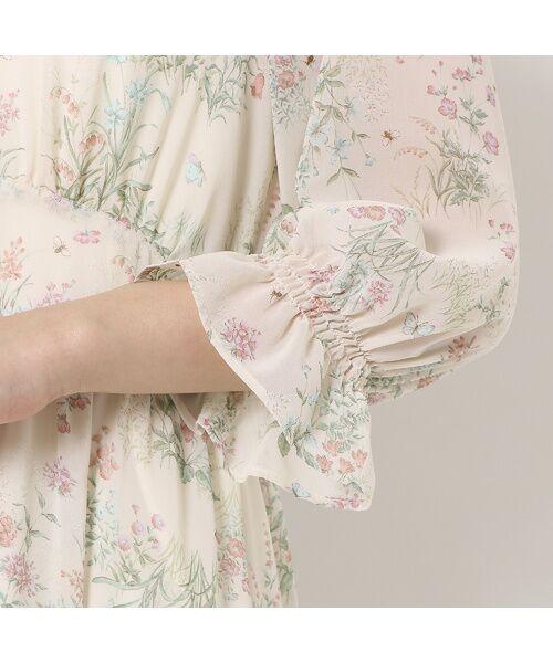 Rose Tiara / ローズティアラ ミニ丈・ひざ丈ワンピース | ボタニカルフラワーガウンワンピース | 詳細5