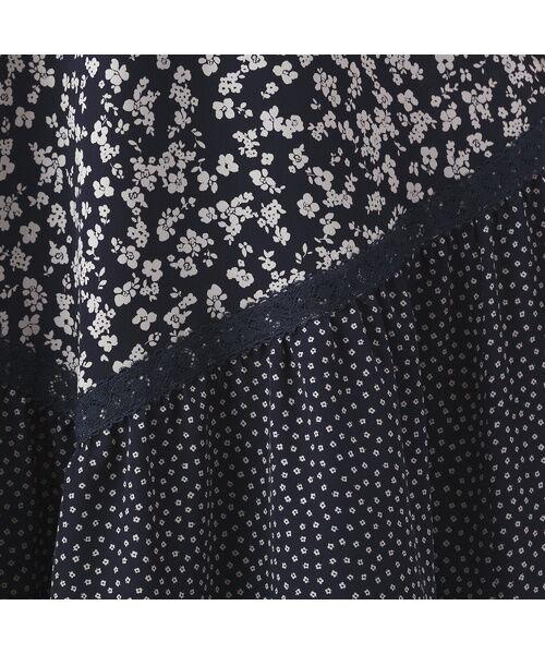Rose Tiara / ローズティアラ ミニ丈・ひざ丈ワンピース   フローラルプリントロングワンピース   詳細5