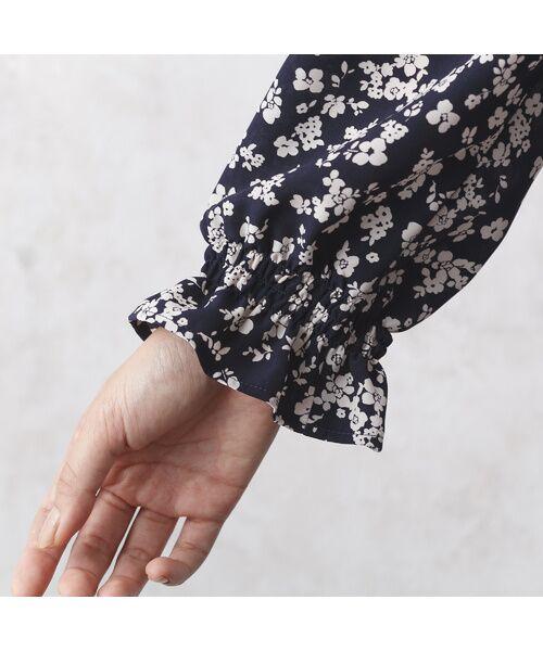 Rose Tiara / ローズティアラ ミニ丈・ひざ丈ワンピース   フローラルプリントロングワンピース   詳細6