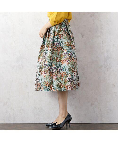 Rose Tiara / ローズティアラ ミニ・ひざ丈スカート | LIMONTAフレアスカート | 詳細5