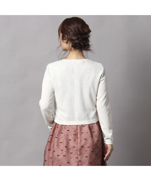 Rose Tiara / ローズティアラ ニット・セーター | ビジューボタンミラノリブボレロ | 詳細3