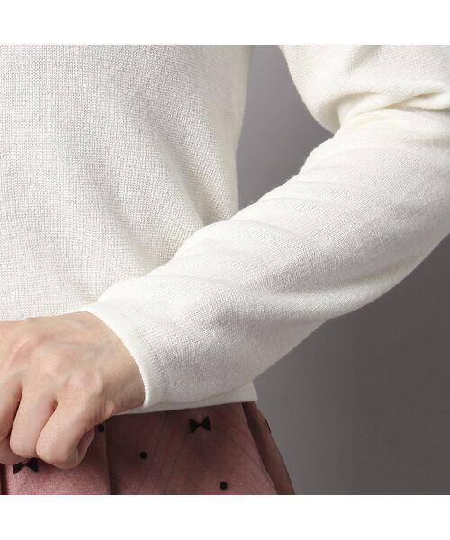 Rose Tiara / ローズティアラ ニット・セーター | ビジューボタンミラノリブボレロ | 詳細5
