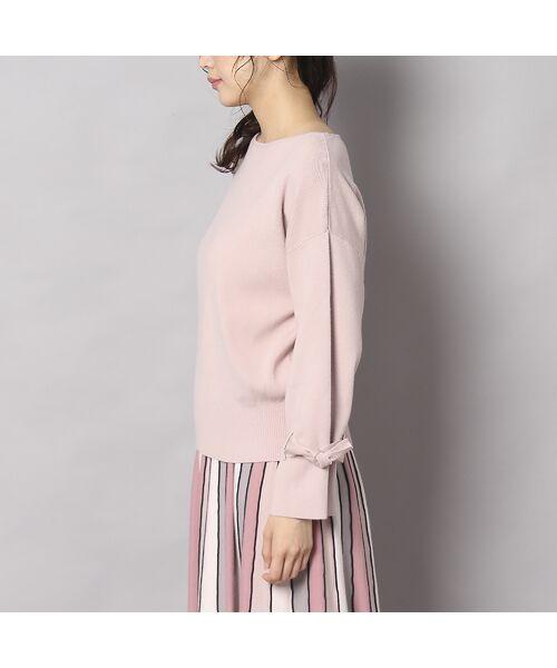 Rose Tiara / ローズティアラ ニット・セーター | フレアリボンスリーブニットプルオーバー | 詳細1