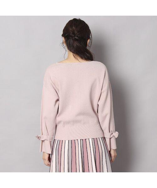 Rose Tiara / ローズティアラ ニット・セーター | フレアリボンスリーブニットプルオーバー | 詳細2