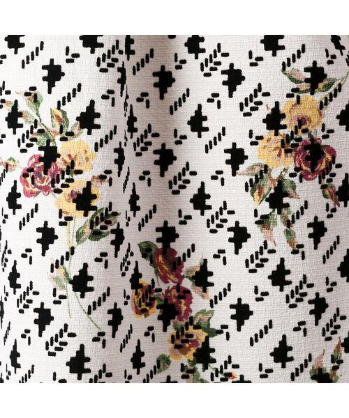 Rose Tiara / ローズティアラ ミニ丈・ひざ丈ワンピース | フラワープリントフィット&フレアワンピース | 詳細7