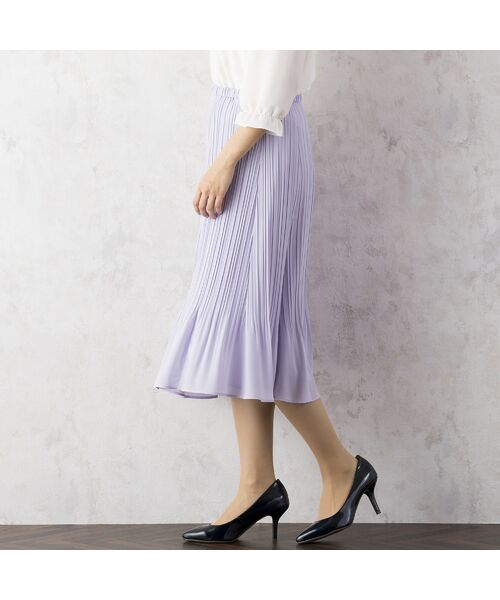 Rose Tiara / ローズティアラ ミニ・ひざ丈スカート   シフォンプリーツスカート   詳細1