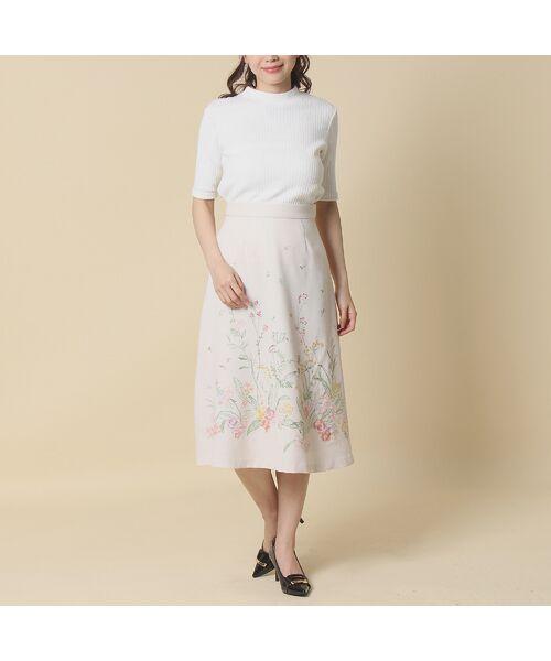 Rose Tiara / ローズティアラ ミニ・ひざ丈スカート | 線刺繍フレアスカート | 詳細11