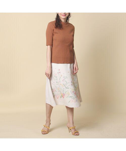 Rose Tiara / ローズティアラ ミニ・ひざ丈スカート | 線刺繍フレアスカート | 詳細12