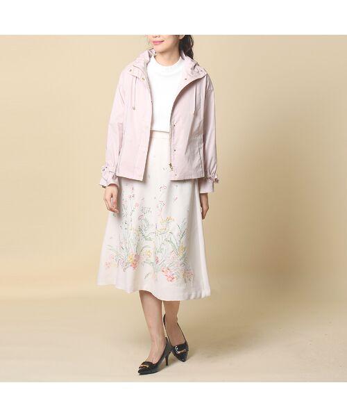 Rose Tiara / ローズティアラ ミニ・ひざ丈スカート | 線刺繍フレアスカート | 詳細13