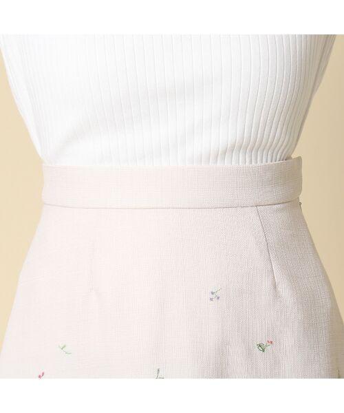 Rose Tiara / ローズティアラ ミニ・ひざ丈スカート | 線刺繍フレアスカート | 詳細4