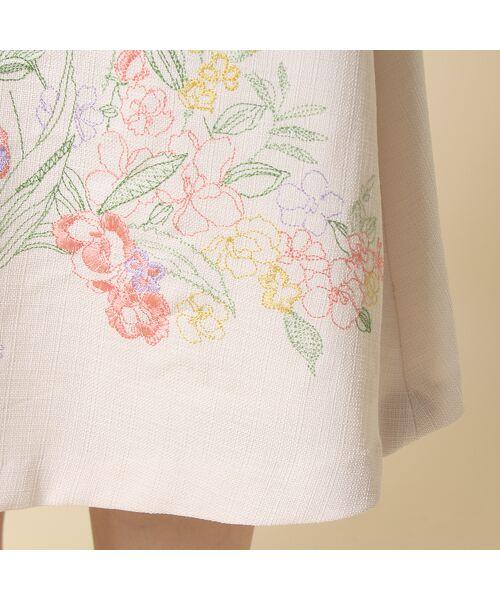 Rose Tiara / ローズティアラ ミニ・ひざ丈スカート | 線刺繍フレアスカート | 詳細6