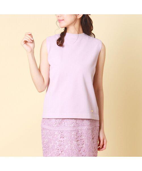 Rose Tiara / ローズティアラ ニット・セーター | コットン混ニットプルオーバー(ピンク)